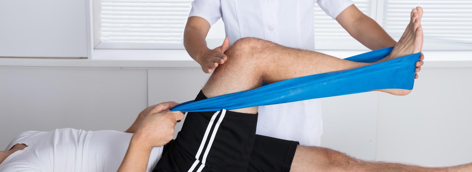 Übungen bei der Physiotherapie Zoll